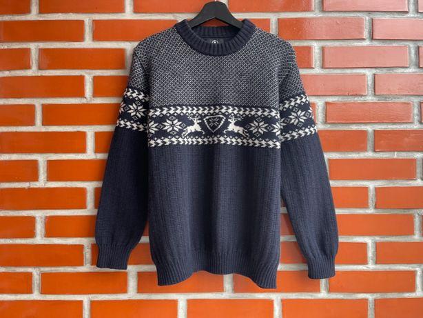 Bogner оригинал мужской свитер с оленями размер M богнер Б У