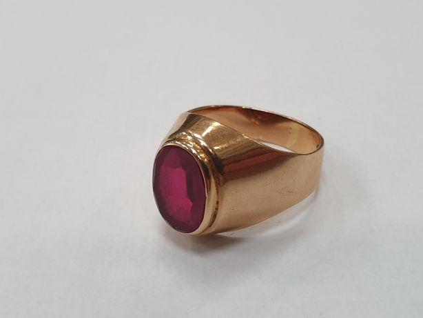 Piękny złoty sygnet męski/ Złoto 585/ 9.3 gram/ R23/ sklep Gdynia