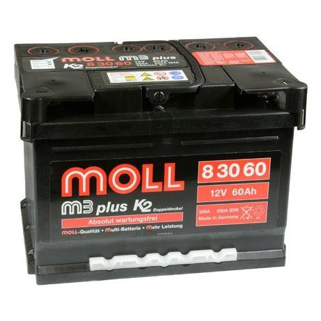 Akumulator Moll M3 plus K2 60Ah 550A