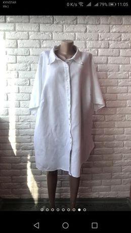 Рубашка - туника большого размера