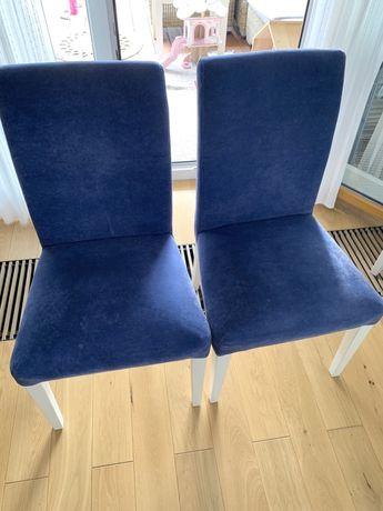 Krzesło Henriksdal Ikea z indywidualnym obiciem