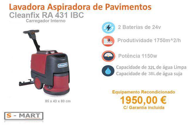 Lavadora Aspiradora Pavimentos Cleanfix RA 431 IBC