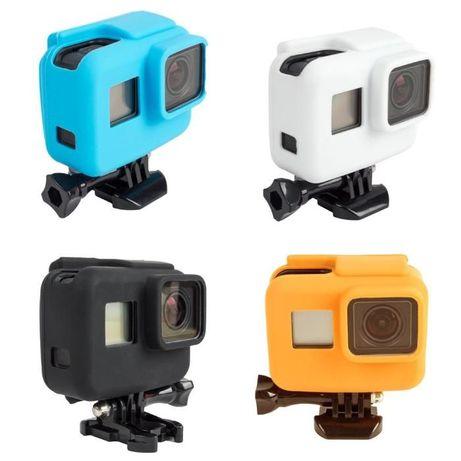 Capa Silicone Gopro Hero 5&6&7 Black - Usar com Frame-Novo-Portes Grat