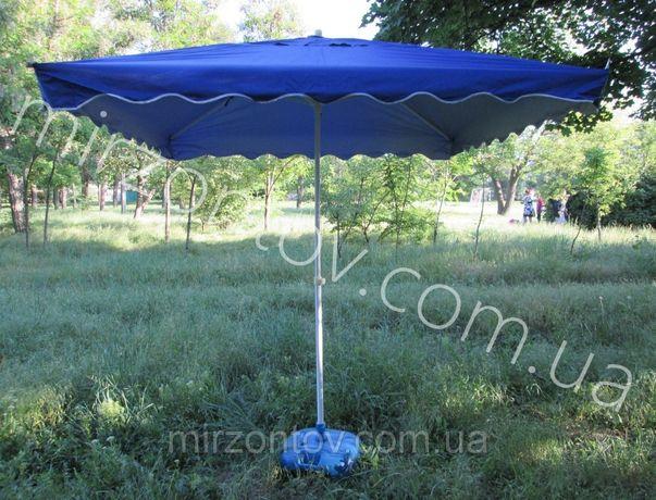 Зонты Торговые Большие 2х3/ 3х3/ 2,5х2,5/ 2,5х3,5/2х2 квадратн, кругл