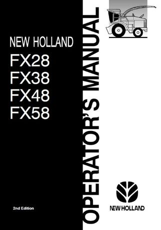 Instrukcja obsługi sieczkarnia New HOLLAND FX 28, 38, 48, 58