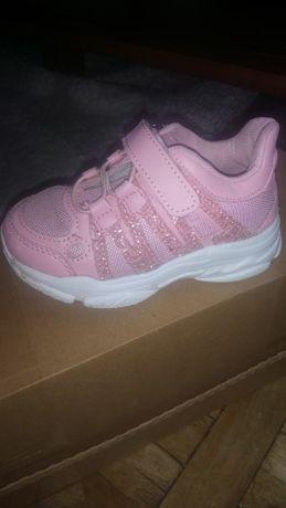 Кроссовки розовые для девочки, 14,6 см