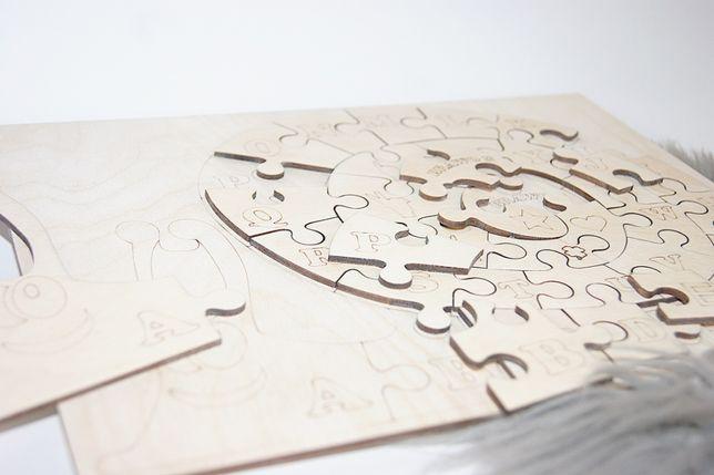 Nauka przez zabawę drewniane puzzle w kształcie Ślimaka