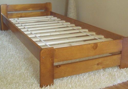 Łóżko drewniane 80/200 olcha + stelaż +2 szt  materac