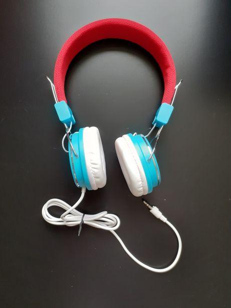 Słuchawki Tracer COOPER, czerwono-biało-niebieskie, idealne dla dzieci