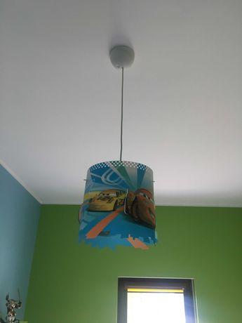 lampa sufitowa dziecięca z motywem Zygzak'a Mcqueen