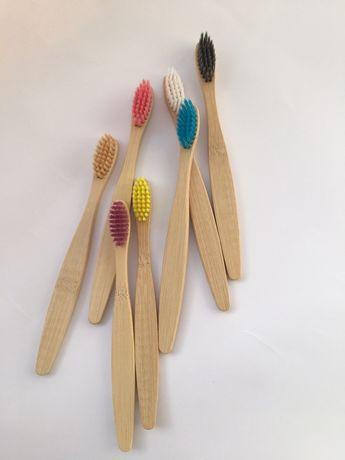 Дитяча зубна щітка з бамбуку