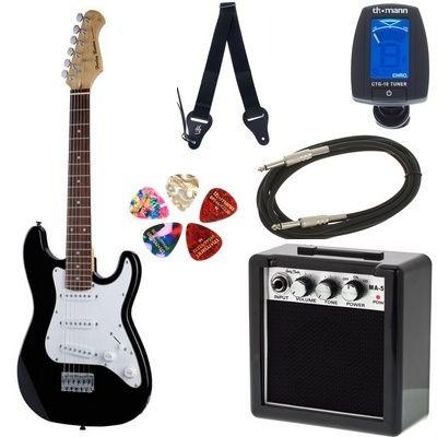 NOWA Gitara elektryczna dla dzieci Harley Benton ST set