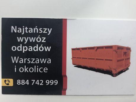 Wywóz Gruzu i Odpadów pobudowlanych NAJNIŻSZE CENY