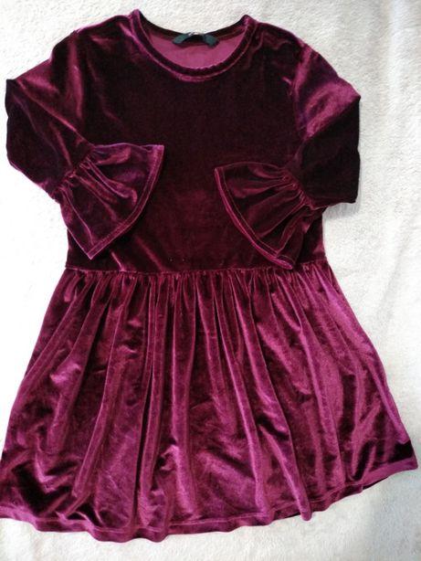 Велюр платье George 5-6 лет