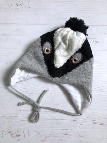 Зимняя теплая шапка шапочка для малыша