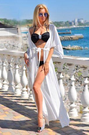платье пляжная туника парео накидка на купальник шифоновый халат