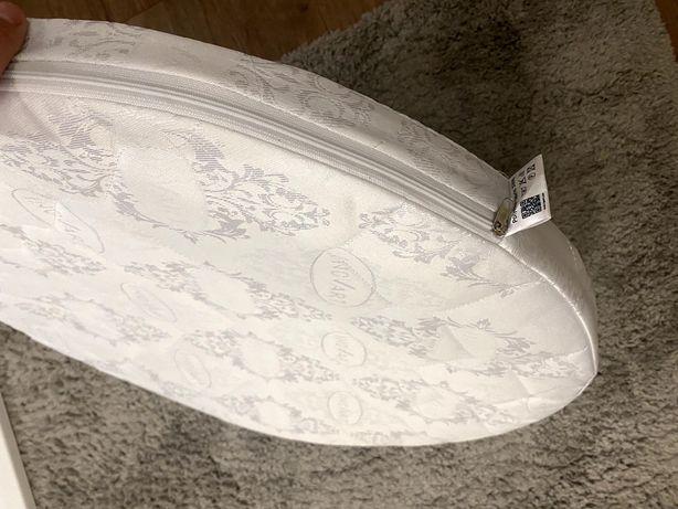 Круглый матрасик в кроватку трансформер
