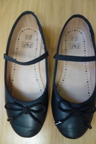 Czarne baleriny F&F rozmiar 31 wkładka 19,4cm stan idealny