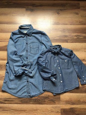 Koszula koszule zestaw mama dziecko corka syn 98 110 mama S jeans j