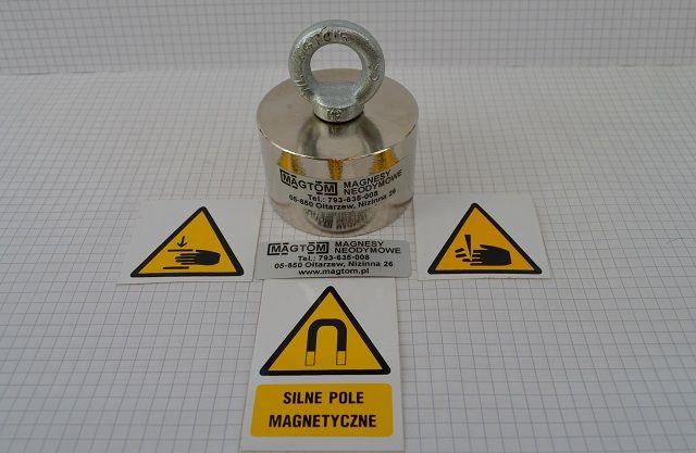 Magnes Neodymowy 55x25 N45 w uchwycie 65x40 265kg