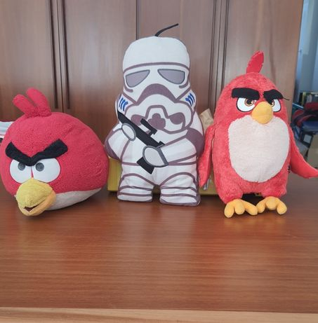 Peluches star wars e angry birds
