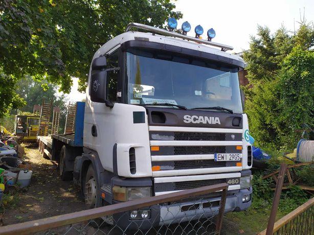Ciągnik siodłowy Scania + naczepa niskopodwoziowa