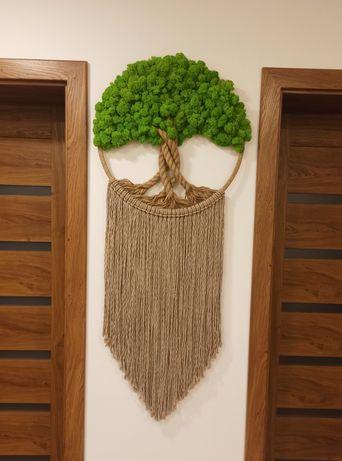 Drzewko szczęścia eko z mchu Prezent Urodziny parapetówka Dzień Kobiet