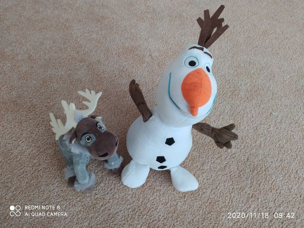 Frozen, Kraina lodu, Ania i Elsa, Sven, bałwanek, Olaf