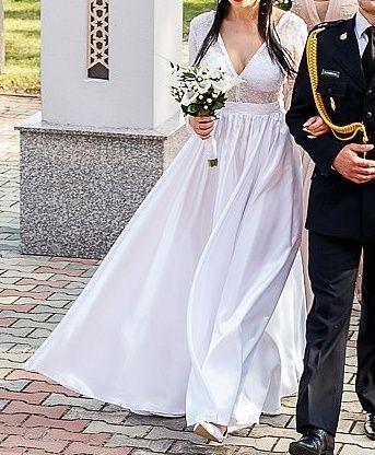Suknia ślubna elegancka glamour