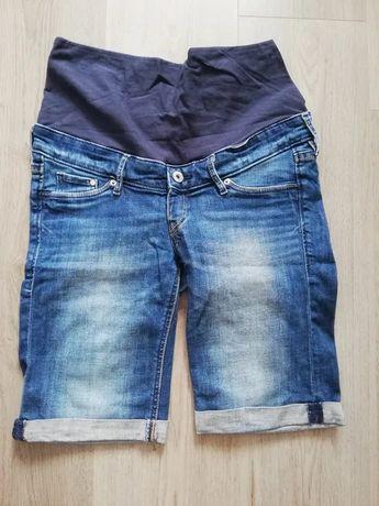 Krótkie spodenki jeansowe ciążowe r. 36