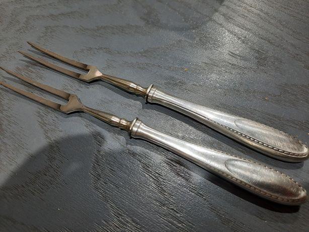 Widelczyki do przystawek srebro 800 przedwojenne punce okazja