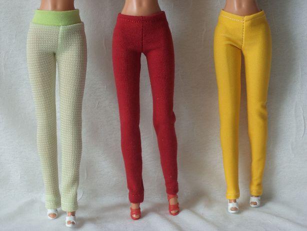 Ubranka dla lalki barbie - legginsy i sandałki - trzy komplety !!!