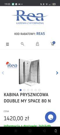 Kabina prysznicowa Rea 80 cm
