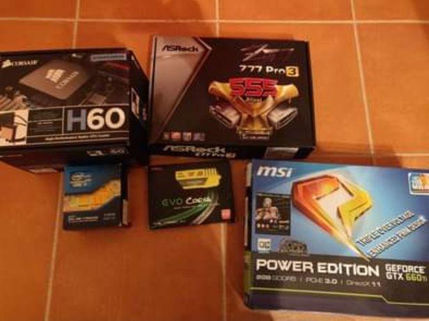 i7 3770 ASRock Z77 GTX 660Ti e outros