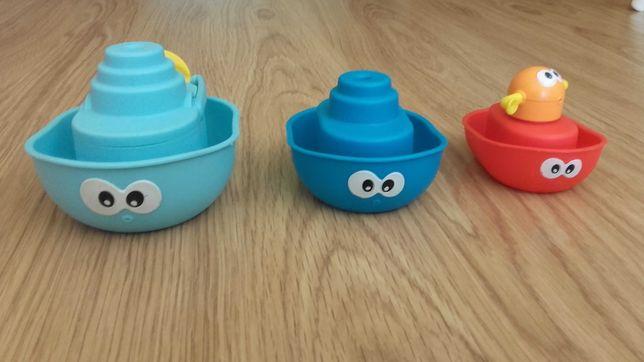 Conjunto de barcos para o banho de bebé