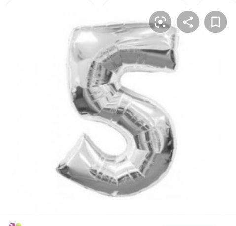 Шарик гелий цифра 5