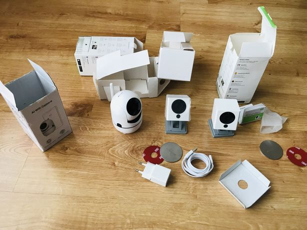 Zestaw 3 kamer Wi-Wi camera iSmartAlarm spot+ oraz cloud camera 1080P