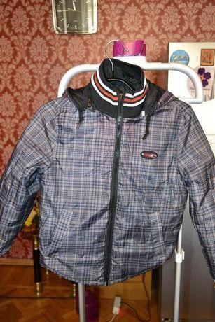 Куртка для мальчика двухсторонняя , р.134