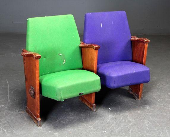 Par de cadeiras nórdicas de cinema /teatro| Escandinavo| Retro Vintage