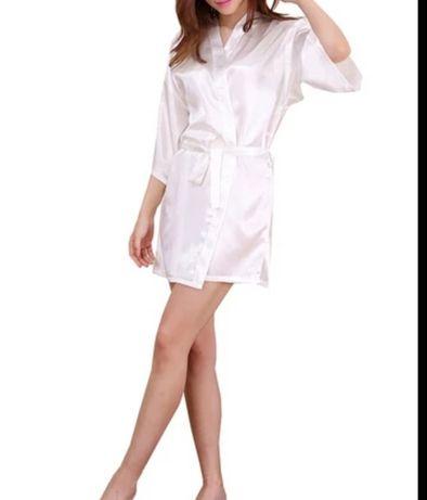 Robe branco tamanho S
