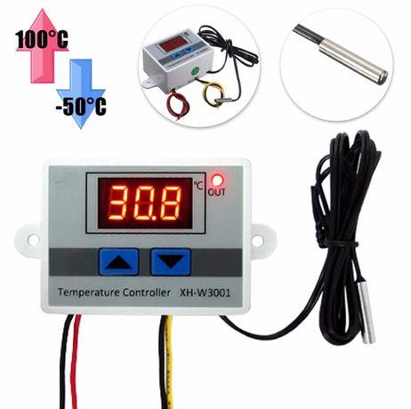 Терморегулятор W3001 12/220В регулятор температуры инкубатор теплица