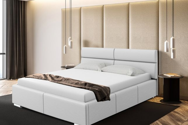 Łóżko sypialniane Monako, różne wymiary PROMOCJA stelaż+pojemnik
