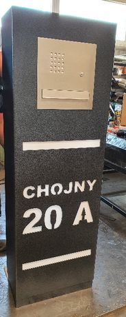 Słupek multibox brama furtka domofon skrzynka na listy numer domu