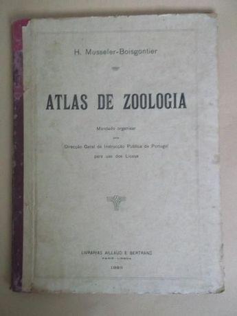 Raridade: Atlas de Zoologia de H. Musseler-Boisgontier