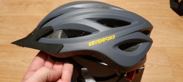 Kask rowerowy Sevenfor7 rozmiar L, szary