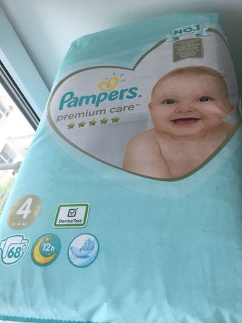 Подгузники pampers premium care 4 размер 68 шт 9-14 кг