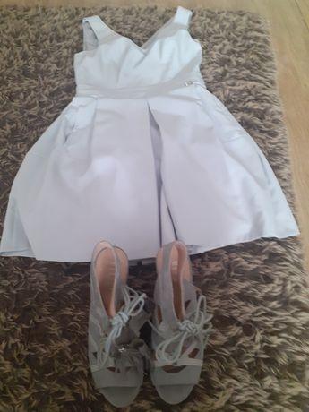 Sukienka M +szpilki