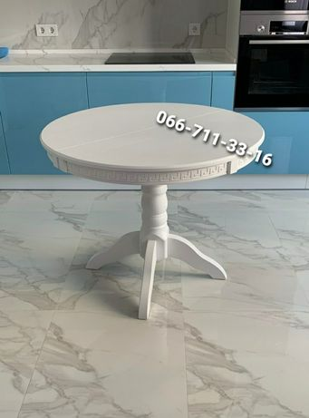 Деревянный круглый стол КАРПАТЫ. Кухонный стол. Деревянный гарнитур.