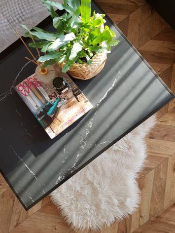 Loft szkło regał industrialny stolik kawowy ława design