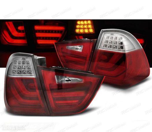 CONJUNTO DE FAROLINS LED/BAR BMW E91 09-11TOURING TEC FIBRA ÓPTICA ELEDS